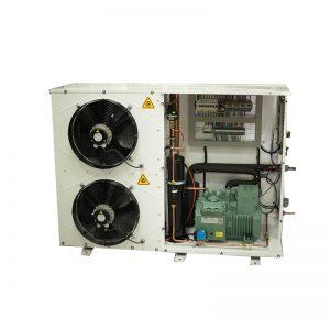 יחידות עיבוי עם מדחסי ביצר סמי הרמטיים במבנה סגור דמוי מזגן